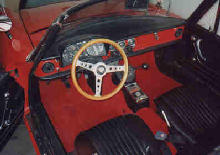 Alfa Romeo Spider Interior (Red bodywork, shot from above)