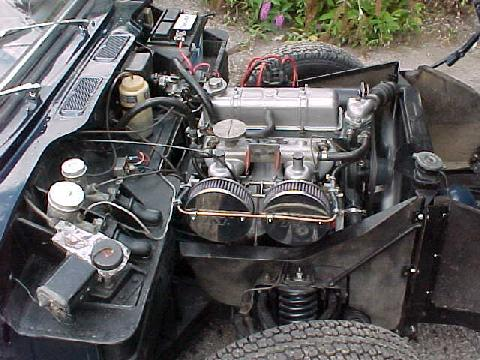 Triumph Spitfire MkIII Engine Bay (right hand side)