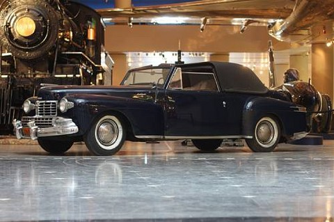 <i>In the Museum's collection since 1958</i><BR><B>1948 Lincoln Continental</b><BR>Chassis no. 8H 182 073