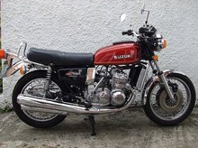 1976 Suzuki 739cc GT750A<BR><B></b><BR>Registration no. PEK 469R<BR>Frame no. 76780<BR>Engine no. 83702