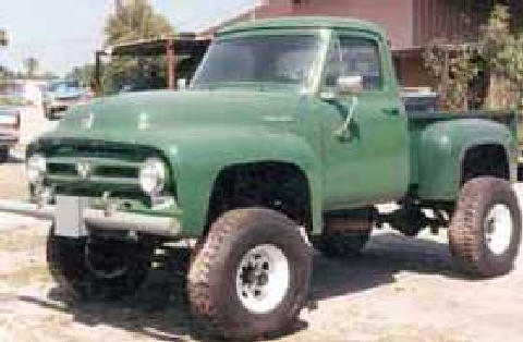 f100 4x4 Green (1953) - Picture Gallery - Motorbase