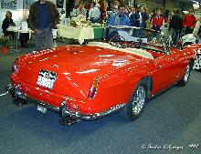Ferrari 250 GT Convertible Pininfarina 1961 Rear three quarter view