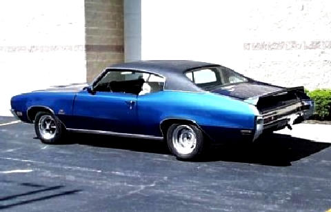 Buick Gs 455 Stage 1 Hardtop Coupe Blueblack  Rvl (1970)