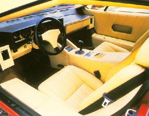 lamborghini countach 25th anniversary interior 1988. Black Bedroom Furniture Sets. Home Design Ideas