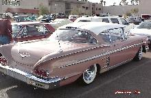 Chevy Impala 348 2dr Ht Rosewht Trsrvsw (1958)