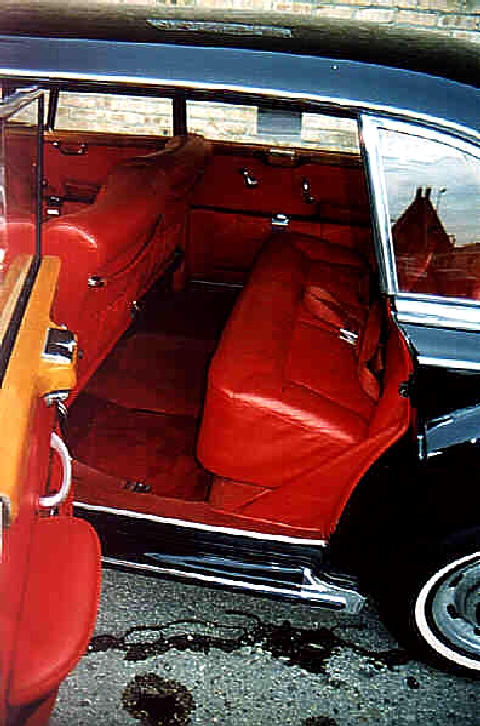 Mercedes Benz 300d Rear Interior Red Leather (1961)