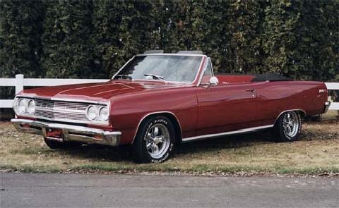 Chev MalibuSS327Convert Red (1965)