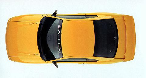 ford mustang top view. ford saleen mustang s 351 top view (1995)