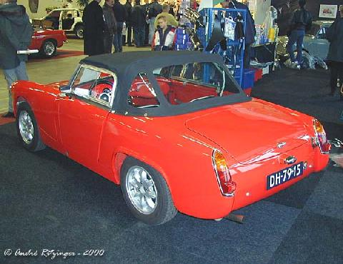 Austin Healey Sprite MK II 1963 Rear three quarter view