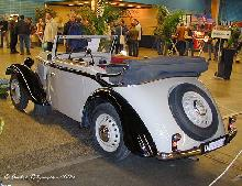 Adler Trumpf Junior Cabriolet 1937 Rear three quarter view