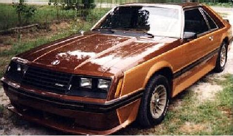 Mustang Hatchback Goldbrown   (1980)