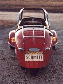 Messerschmitt KR200 (red bodywork, rear view)