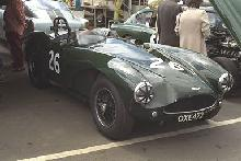 Aston Martin DB3S (green, front side view)