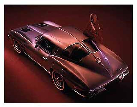 Chevrelot Corvette Sting Ray, top rear view (1963)