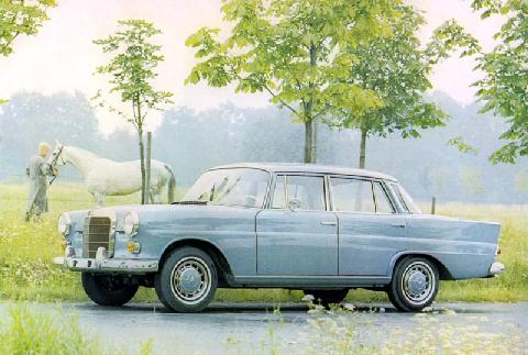 Mercedes-Benz 200 (1967, side view)