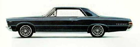 Pontiac Tempest Hardtop Side View Black (1965)
