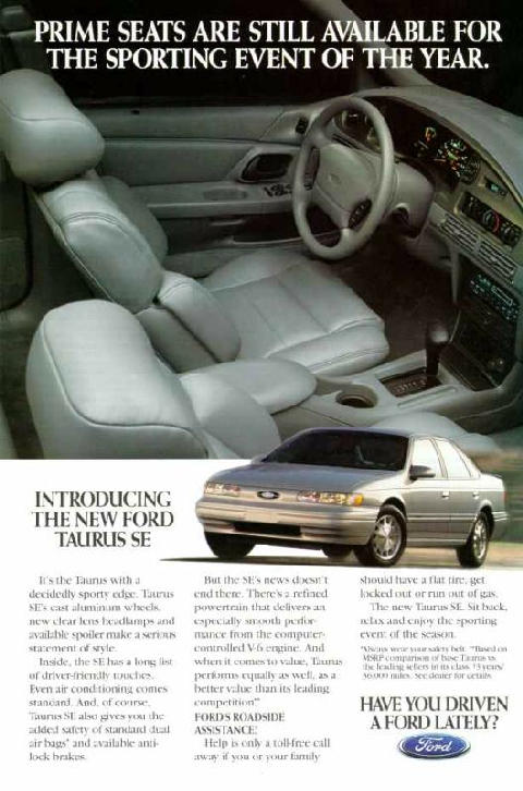 1995 Ford Taurus Se Car Interior Ngad295aa26a Picture