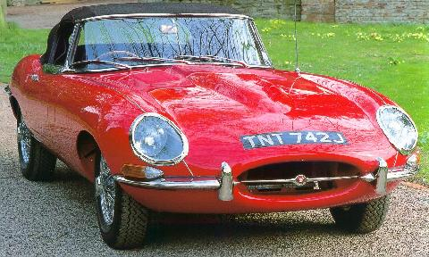 Jaguar E-type 3.8 litre Roadster (1962, front view)