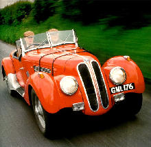 BMW 328 Roadster Front view Red  (1936)
