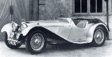 Jaguar SS 100 Side view (1938)