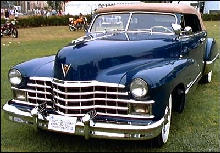 Cadillac 62 Convertible Front view Blue (1947)