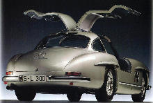 Mercedes Benz 300 SL Silver Rear view (1955)