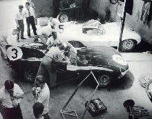 Jaguar D Types In Le Mans (1956)
