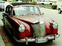 Mercedes Benz 219 Front view Red (1956)