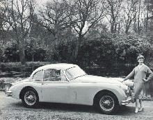 Jaguar Xk150 Fhc Side view (1957)