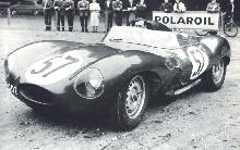 Jaguar D Type   Short Nose Front view (1958)