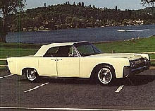 Lincoln Continental Convertible Yellow Tu (1963)