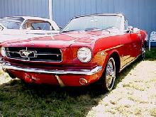 Ford Mustang Convertible Front ViewRed (1965)