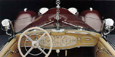Mercedes Benz 540k Spezial Roadster Dashboard 1936