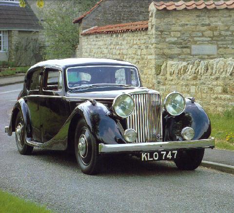 Jaguar Ss 3 5 Litre Saloon Front View 1939 Picture