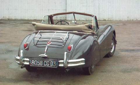Jaguar Xk140 Lhd DHC Rear view (1955)