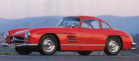 Mercedes Benz 300 SL Red Side view (1955)