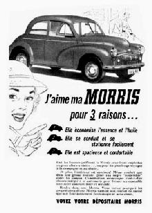 Morris Minor Advert Frcnd Bw Mmod  (1951)