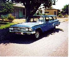 Chevrolet Brookwood Wagon Blue (1960)