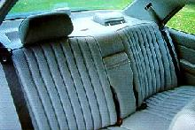 Mercedes Benz 300e Interior Rear Seat Max  (1986)