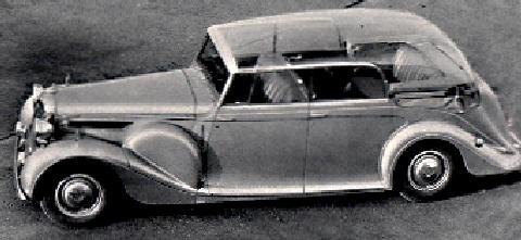 Daimler 8 Convertible Royal Car Perspex Top Bw Max 1952