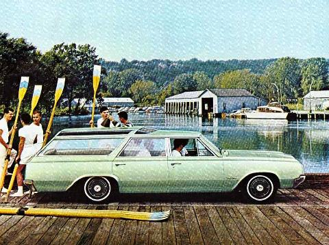 Oldsmobile F 85 Vista Cruiser Green Svr (1964)