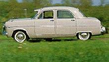 Ford Zephyr Mk 1 Saloon, Side View (1954)