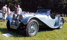 Jaguar SS 100 1937 Front three-quarter view