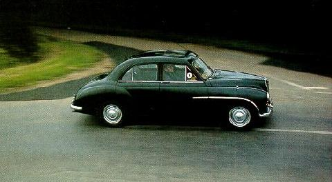 MG Magnette ZA Saloon Black Side/right view (1954)