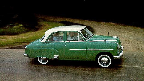 Vauxhall Wyvern Saloon Greenwhite Side/right view (1954)