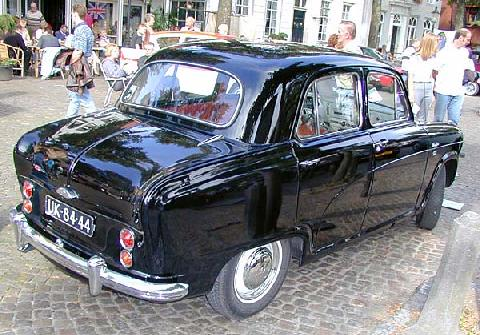 Austin A50 Cambridge Saloon 1956 Rear three quarter view