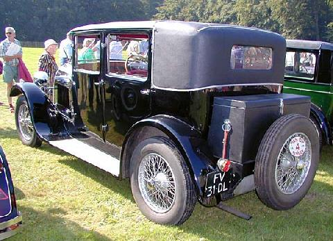 Hotchkiss Am2 Tourer 1928 Rear three quarter view