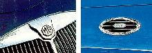 MGA Coupe Blue Grille  Hood Vent Detail (1957)