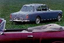 Alvis TD21 Series Iv Saloon Blue  Rear view (1967)