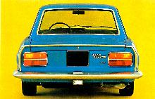 Fiat 124 Coupe 2nd Series Blue Rearv (1969)